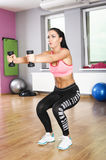 Exercises with dumbbells Royalty Free Stock Photo