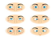 Exercises for eyes Stock Photo