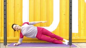 Exercises Fitness to Strengthen the Abdominal. stock footage