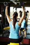 Exercises in front of mirror Royalty Free Stock Photo