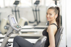Exercises at Gym Stock Image