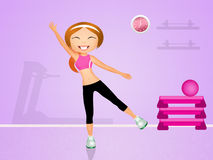 Exercises in the gym. Illustration of exercises in the gym Royalty Free Stock Images