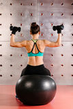 Exercises with hand weights Royalty Free Stock Images