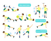 Exercises for kids set. Royalty Free Stock Photography
