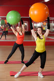 Exercises with pilates fitballs Royalty Free Stock Photography