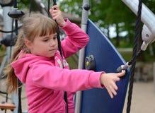 Exercises on playground Royalty Free Stock Photo