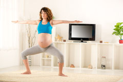 Exercises For Pregnant Women Royalty Free Stock Image