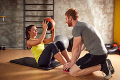 Exercises for six pack Royalty Free Stock Photography