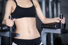 Exercises for a stomach Stock Photo