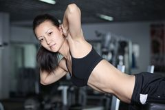 Exercises to strengthen the abdominal muscles stock images