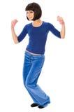 Exercises using dumbbells Royalty Free Stock Image