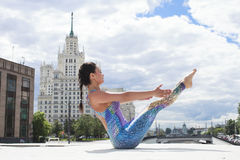 Exercises Yoga Woman Royalty Free Stock Photography