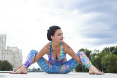 Exercises Yoga Woman Royalty Free Stock Photo