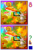 Exercises for young children. Need to find 8 differences. Logic puzzle. Vector cartoon image. Scale to any size without loss of resolution Royalty Free Stock Photo