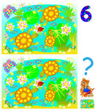 Exercises for young children. Need to find 6 differences. Stock Images