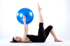 Exercising with ball Royalty Free Stock Images