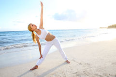 Exercising by the beach Royalty Free Stock Photography