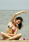 Exercising beauty royalty free stock photos
