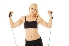 Exercising blonde closeup Stock Photos