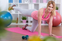 Exercising bottom muscles Stock Photos