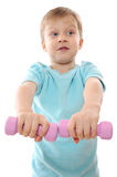 Exercising child Royalty Free Stock Photos