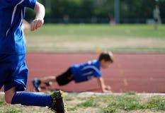 Exercising children stock images