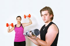 Exercising couple Stock Photography