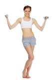 Exercising with dumbbells Royalty Free Stock Photography