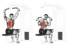 exercising Extremo del bloque superior del cuello Foto de archivo libre de regalías