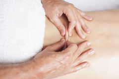 Exercising female myofascial therapy Royalty Free Stock Photography