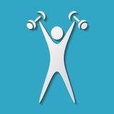 Exercising figure Stock Image