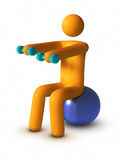Exercising with fitness ball Royalty Free Stock Photography