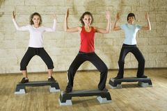 Exercising in the fitness club. Stock Images