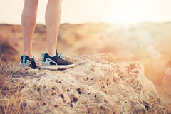 Exercising, Fitness and Healthy Lifestyle Concept. Male Foot Royalty Free Stock Photo