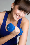 Exercising Fitness Woman Stock Images