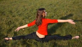 Exercising girl Stock Photography