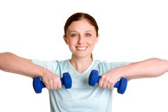Exercising Girl Stock Photo
