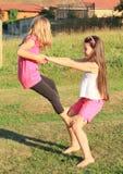 Exercising girls Stock Photos