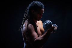 Exercising in gym Royalty Free Stock Photography