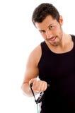 exercising half length man στοκ εικόνα με δικαίωμα ελεύθερης χρήσης