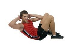 Exercising handsome man Stock Image