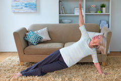 Exercising at home Royalty Free Stock Image