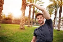 Exercising makes happy Royalty Free Stock Photos