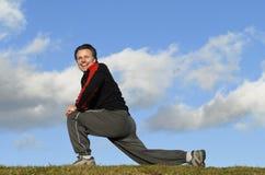 exercising man Στοκ εικόνα με δικαίωμα ελεύθερης χρήσης