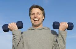exercising man Στοκ Φωτογραφίες