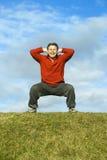 exercising man Στοκ εικόνες με δικαίωμα ελεύθερης χρήσης