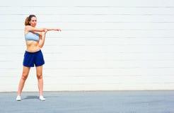exercising mature urban woman Стоковое фото RF