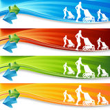 Exercising Mother Banners Royalty Free Stock Photos