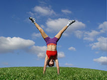 Exercising outdoors Stock Photography