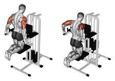 Exercising. Pulling body in graviton Stock Image